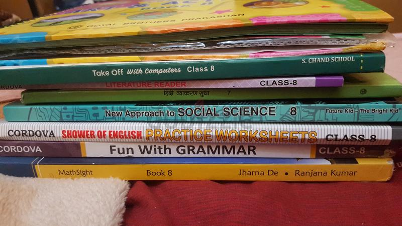 Sharjah Indian school Grade 8 and 3 Textbooks (New)