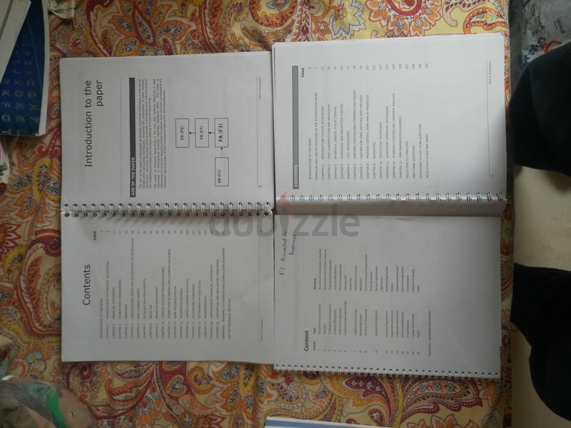 ACCA F1+F2+F3 LSBF BOOKS, NOTES AND WORKSHEETS