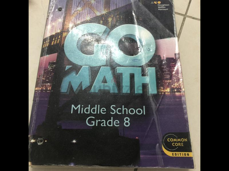 Go Math grade 8 book