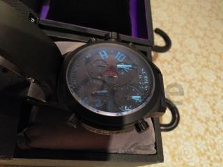 Welder Style Military watch 3-time zone chronograph