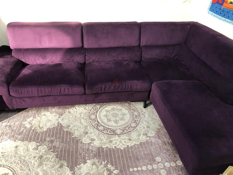 check out 541cc 45a8b L Shape Sofa 4 Seater purple
