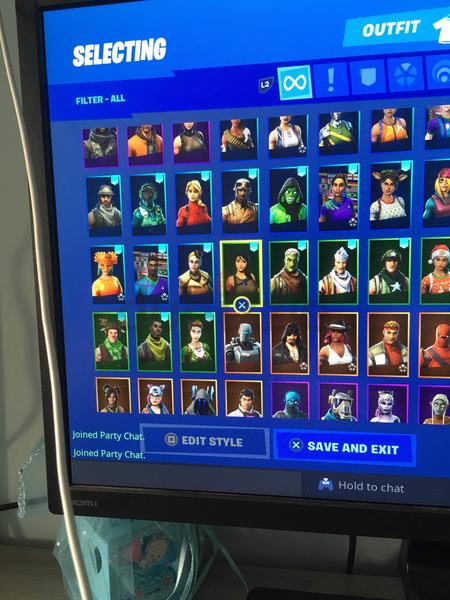 Fortnite ps4 account including save the world (zombie mode)