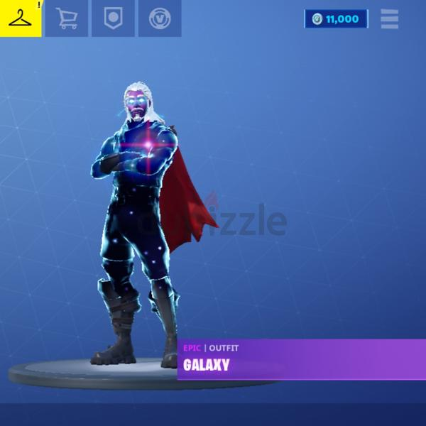 Fortnite Galaxy Skin Account 11k Vbucks And 13 7k Vbucks Worth Of Items