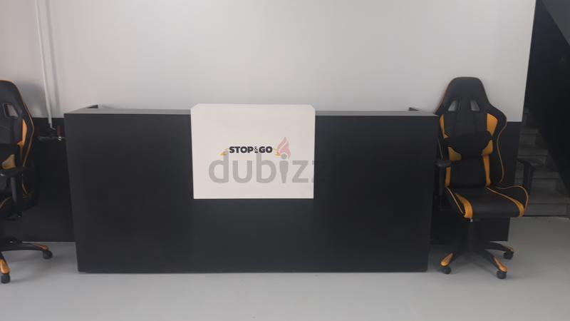 new product 13e12 1acb8 Reception desk/counter for sale with sports chair