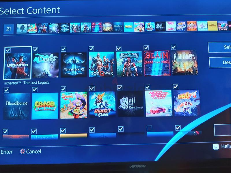 Jilbrooken playstation 4 with 20 games