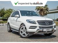 مرسيدس بنز الفئة-M 2015 AED1891/month | 2015 Mercedes Ml400 4matic 3....