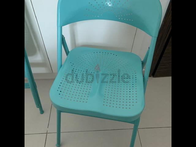 Tremendous Ikea Frode Turquoise Folding Chairs Two Lamtechconsult Wood Chair Design Ideas Lamtechconsultcom