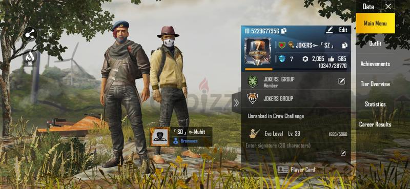PUBG MOBILE ACCOUNT SALE