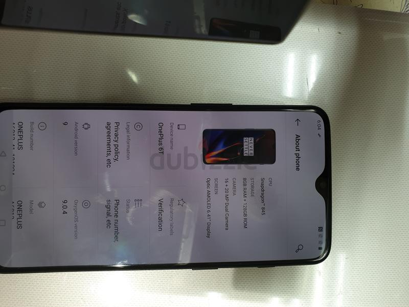 Used Oneplus 6t 8gb 128gb only device in good condition