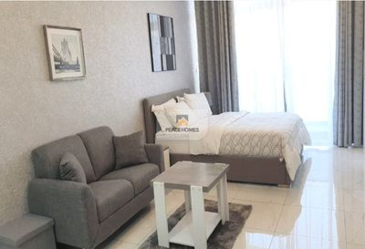Property for Rent photos in JVC District 11: AMAZINGLY FURNISHED STUDIO | POOL FACING BALCONY - 1