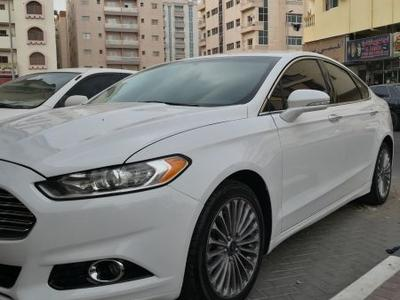 فورد فيوجن 2016 Ford Fusion Titanium Eco-Boost / 2016 White /...