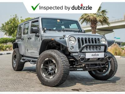 Jeep Wrangler 2015 AED1638/month | 2015 Jeep Wrangler Unlimited ...