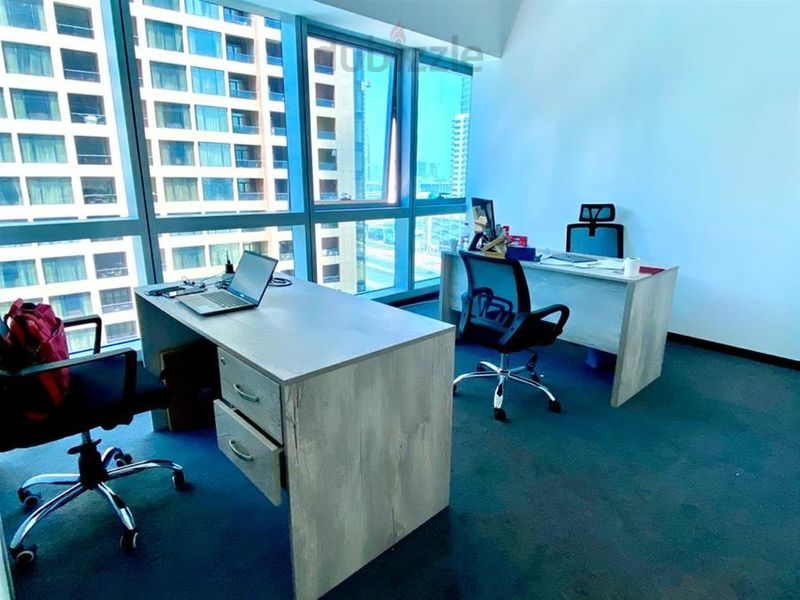 Property for Rent photos in Barsha Heights (Tecom): Special Offer - Elite Private Office with a beautiful SZR view - 1