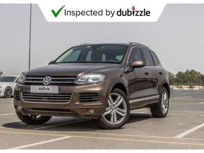 Volkswagen Touareg 2014 AED1068/month | 2014 Volkswagen Touareg Sel 3...
