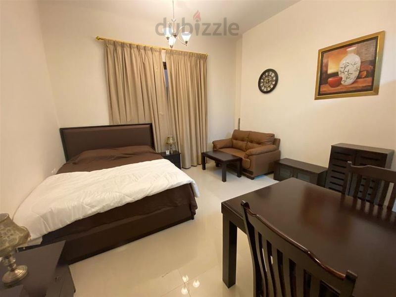 Property for Rent photos in Elite Sports Residence: FURNISHED STUDIO   GOLF VIEW   MONTHLY 3K INCLUDING BILLS - 1