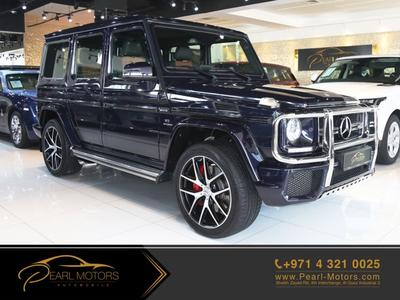 مرسيدس بنز الفئة-G 2017 ((WARRANTY UNTIL JUN.2022)) MERCEDES BENZ G63...